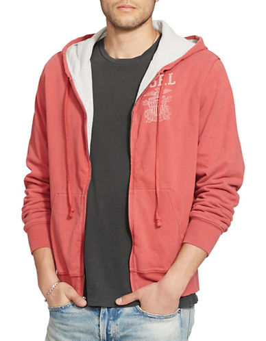 Denim & Supply Ralph Lauren Full-Zip Graphic Hoodie-RED-Small 88735916_RED_Small