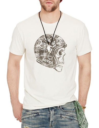 Denim & Supply Ralph Lauren Cotton Jersey Graphic Tee-WHITE-X-Large 88508482_WHITE_X-Large