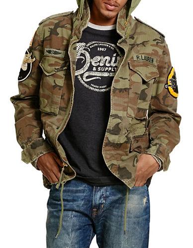 Denim & Supply Ralph Lauren Camo Herringbone Field Jacket-GREEN-Medium 88508500_GREEN_Medium