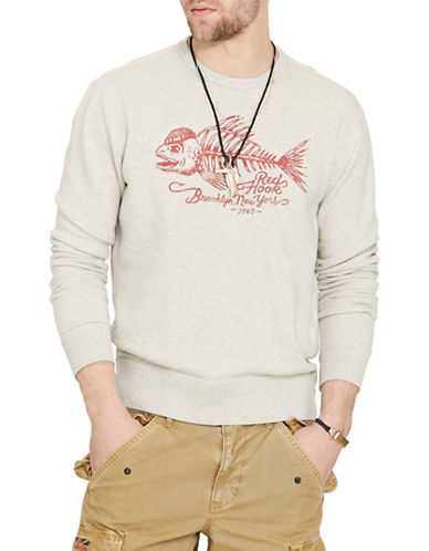 Denim & Supply Ralph Lauren Terry Graphic Sweatshirt-GREY-Small 88508837_GREY_Small