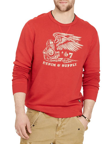 Denim & Supply Ralph Lauren Terry Graphic Sweatshirt-ORANGE-Medium 88508841_ORANGE_Medium