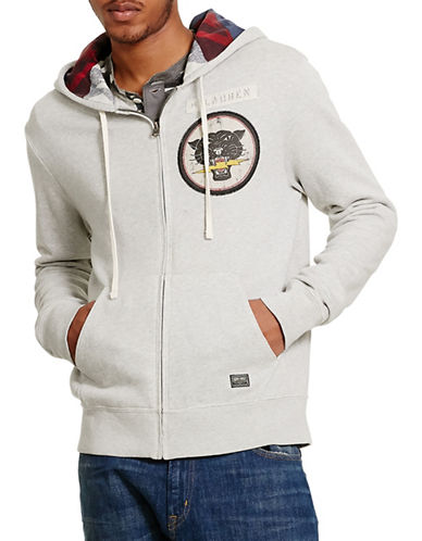 Denim & Supply Ralph Lauren French Terry Full-Zip Hoodie-GREY-X-Large 88508853_GREY_X-Large