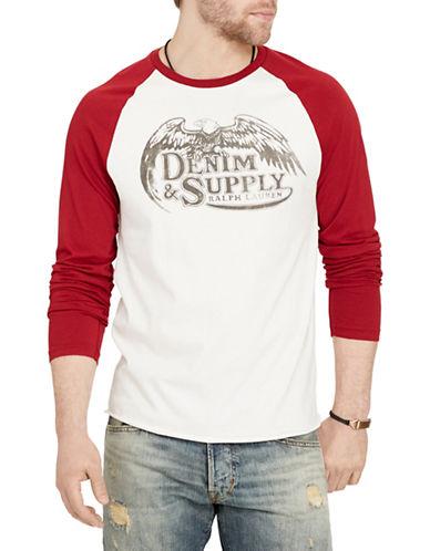 Denim & Supply Ralph Lauren Jersey Graphic Baseball Tee-WHITE-Medium 88508585_WHITE_Medium