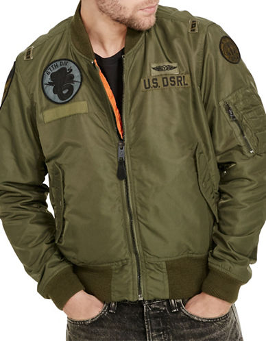 Denim & Supply Ralph Lauren Slim Reversible Bomber Jacket-GREEN-Medium 88508620_GREEN_Medium