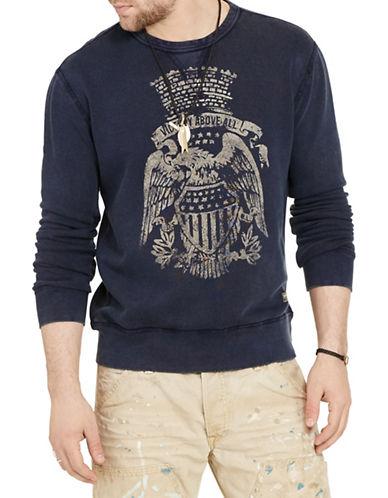 Denim & Supply Ralph Lauren Terry Graphic Sweatshirt-BLUE-X-Large 88508898_BLUE_X-Large