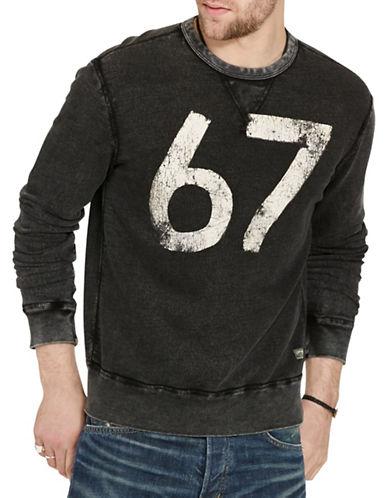 Denim & Supply Ralph Lauren Terry Graphic Sweatshirt-BLACK-X-Large 88508903_BLACK_X-Large