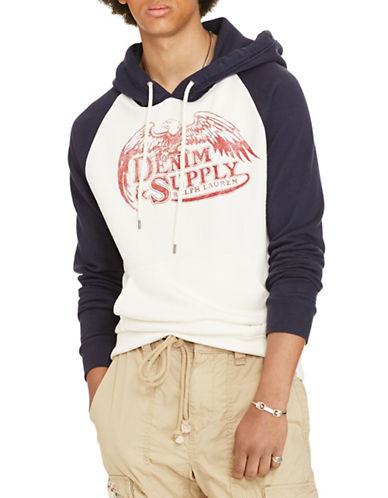 Denim & Supply Ralph Lauren Cotton Terry Graphic Hoodie-WHITE-X-Large 88508938_WHITE_X-Large