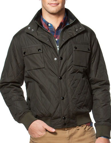 Chaps Quilted Jacket-GREEN-Large 88643255_GREEN_Large