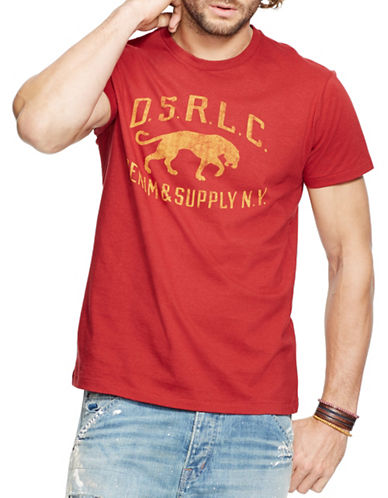 Denim & Supply Ralph Lauren Jersey Panther Graphic T-Shirt-RED-Small 88281469_RED_Small