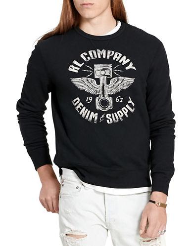 Denim & Supply Ralph Lauren French Terry Sweatshirt-BLACK-X-Large 88281528_BLACK_X-Large