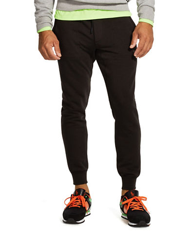 Polo Sport Flat Seam Fleece Pants-POLO BLACK-Large 88192940_POLO BLACK_Large