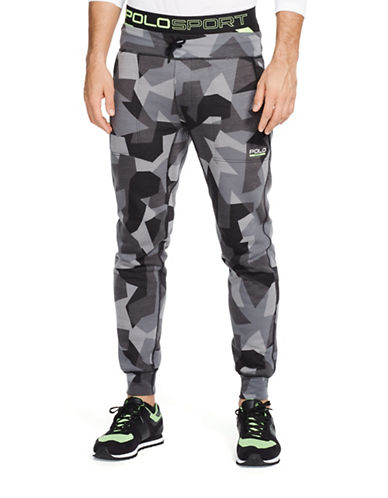 Polo Sport Camo Flat Seam Fleece Pants-BLACK CAMO-X-Large 88192958_BLACK CAMO_X-Large