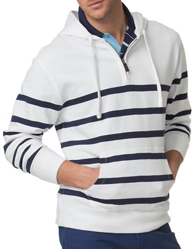 Chaps Striped Terry Hoodie-WHITE-X-Large 88840183_WHITE_X-Large