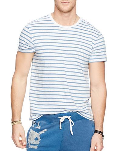 Denim & Supply Ralph Lauren Striped Crew Neck T-Shirt-WHITE-Large 88281722_WHITE_Large
