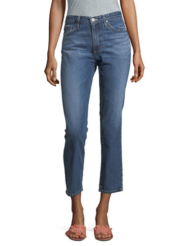 Ag Jeans Isabelle Straight Crop Cotton Jeans-BLUE-26