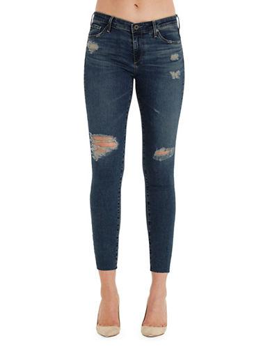 Ag Jeans Super Skinny Legging Ankle Jeans-BLUE-28