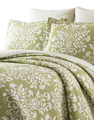 Laura Ashley Rowland Quilt Set-GREEN-King