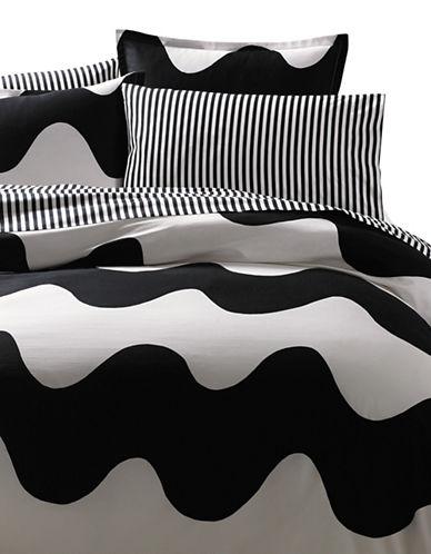 Marimekko Lokki Black Duvet Cover Set-BLACK-Twin