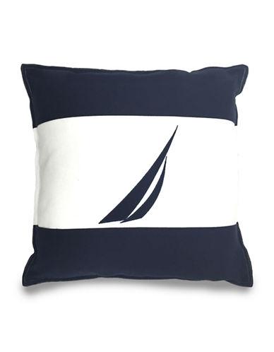 Nautica Colourblock Sail Cushion-NAVY/IVORY-One Size