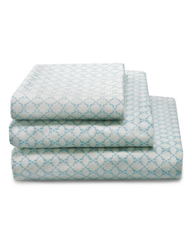Laura Ashley Halstead 300 Thread-Count Sheet Set-BLUE-Queen