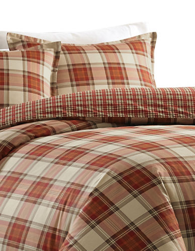 Eddie Bauer Edgewood Three-Piece Comforter Set-RED-Queen