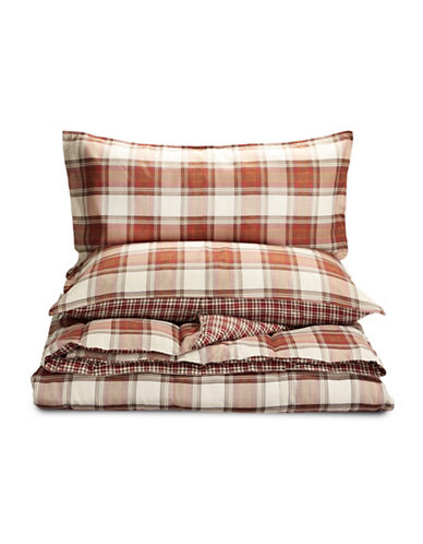 Eddie Bauer Edgewood Plaid Comforter Set-RED-King