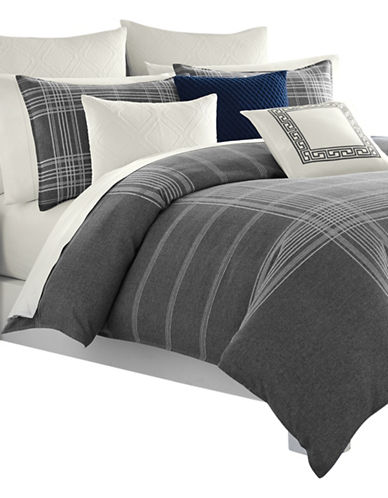 Nautica Haverdale Duvet Cover Set-GREY-Twin