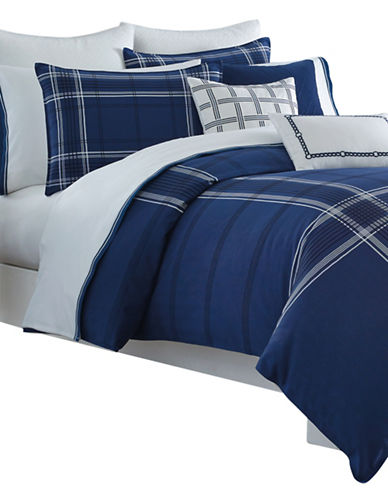 Nautica Haverdale Duvet Cover Set-NAVY-Twin