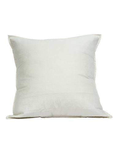 Wedgwood Intaglio 250 Thread-Count Cotton Sateen Euro Sham-WHITE-European