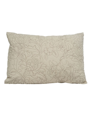 Wedgwood Grand Damask Decorative Pillow-LIGHT BROWN-One Size