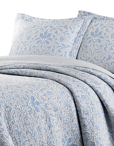 Laura Ashley Mia Quilt Set-PEBBLE-Queen