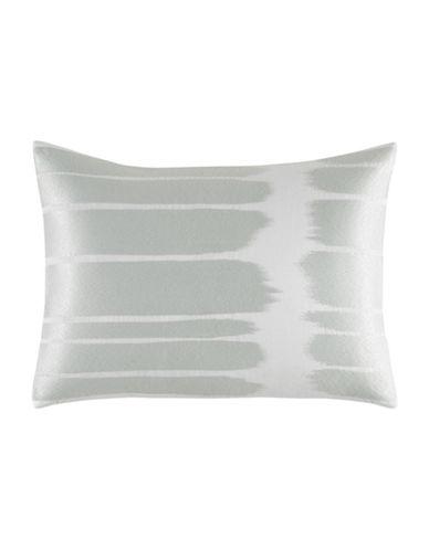 Vera Wang Painted Stripe 12 x 16 Decorative Cushion-GREY-One Size