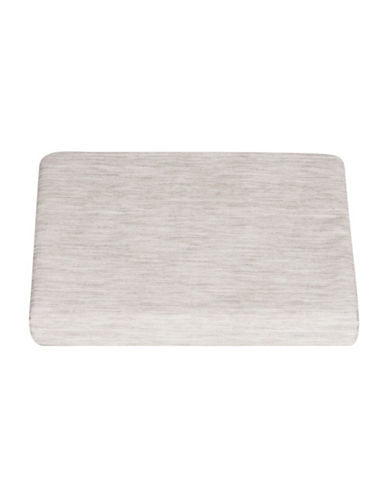 Vera Wang Marble Shibori 300TC Cotton Fitted Sheet-GREY-King