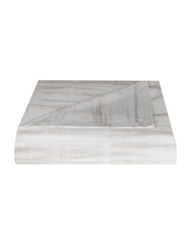 Vera Wang Marble Shibori 350TC Cotton Duvet Cover-GREY-Queen