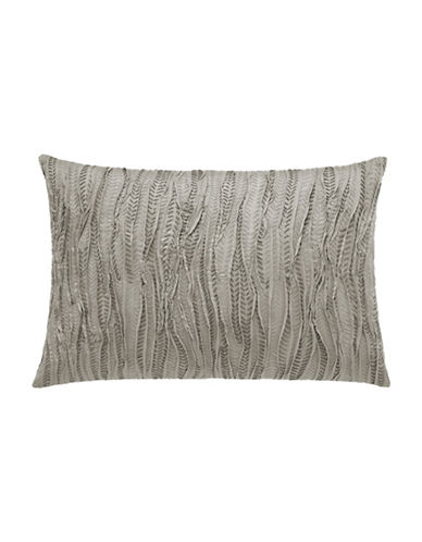 Vera Wang Marble Shibori 15 x 22 Decorative Cushion-GREY-15X20