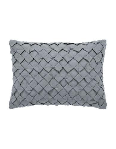 Vera Wang Corrugated Texture 12 x 16 Decorative Cushion-BLUE-One Size