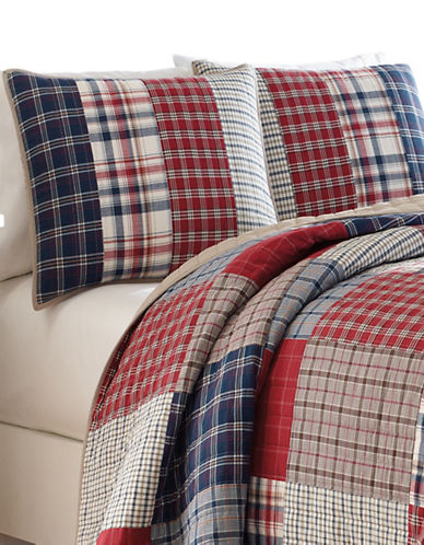 Nautica Ansell Cotton Quilt-RED MULTI-Queen