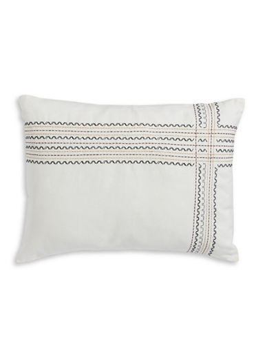 Ed Ellen Degeneres Mombasa Decorative Cushion-IVORY-One Size