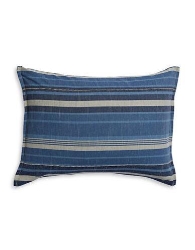 Ed Ellen Degeneres Azur Stripe Sham-BLUE-Standard