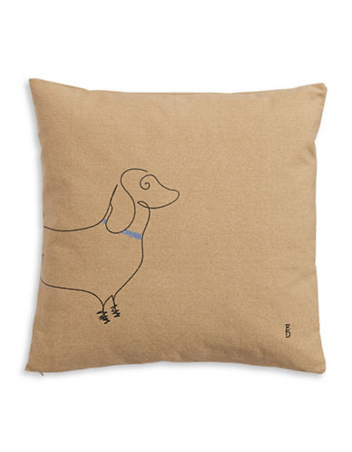 Ed Ellen Degeneres Dachshund Decorative Cushion-GREEN-20x20