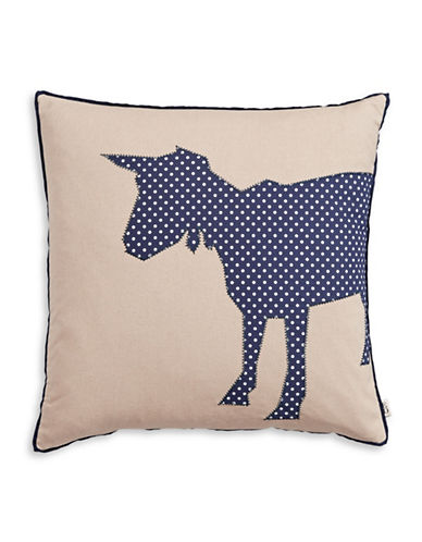 Ed Ellen Degeneres Dot Goat Linen-Cotton Cushion-BEIGE-20x20