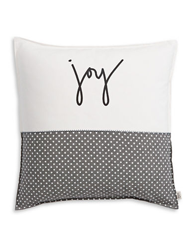 Ed Ellen Degeneres Joy Decorative Cushion-WHITE GREY-20x20