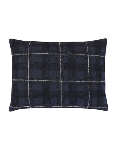 Vera Wang Inkwash Floral Plaid Decorative Cushion-INK-One Size