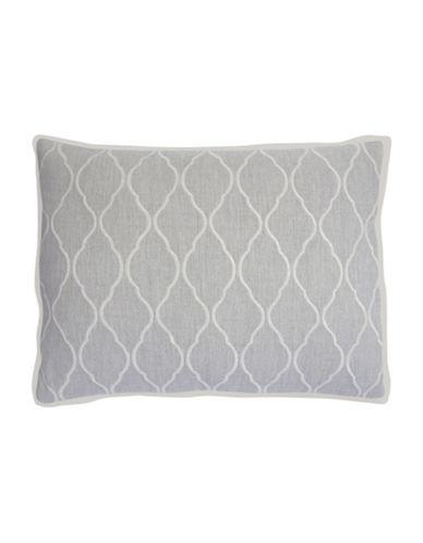 Vera Wang Fretwork Decorative Cushion-GREY-15X20