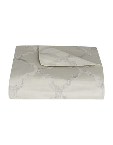 Vera Wang Fretwork Duvet Cover-IVORY-Queen