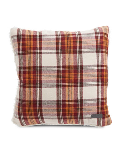 Eddie Bauer Edgewood Decorative Cotton Pillow-RED-18x18