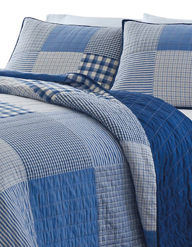 Nautica Peak Quilt Comforter-NAVY-Queen