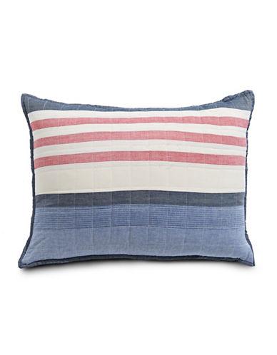 Nautica Cotton Stripe Pillow Sham-BLUE MULTI-Standard