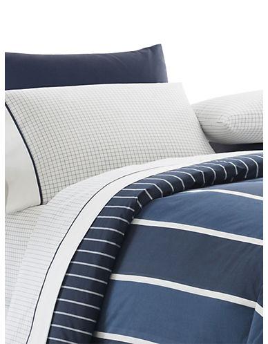 Nautica Nautica Knots Three-Piece Cotton Comforter Set-BLUE-Twin