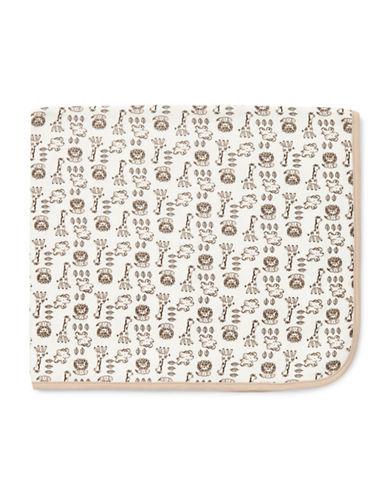 Little Me Soft Safari Blanket-CEMENT-One Size